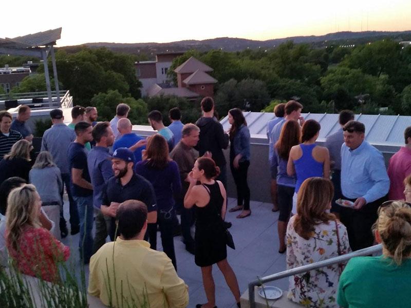 Austin rooftop tasting